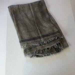 RAG & BONE lightweight raw fringe edge scarf